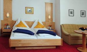 Doppelzimmer, Blick aufs Bett
